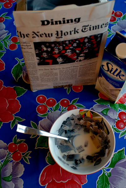 Today I ate my NY Times for breakfast
