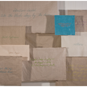 © Megan Piontkowski: Embroideries, Installation view, 2010