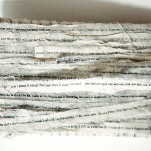 ©Jaz Graf: Eviscera; Paper lithography on muslin with mixed media, dimensions variable (9 pieces, so far)