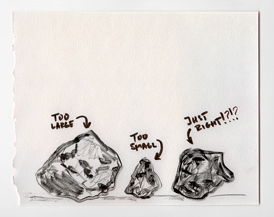 """How big is your stone?"" © Ben Gancsos Projects"