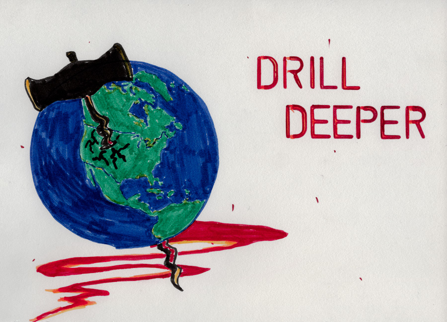 """Drill Deeper."" © Ben Gancsos Projects"