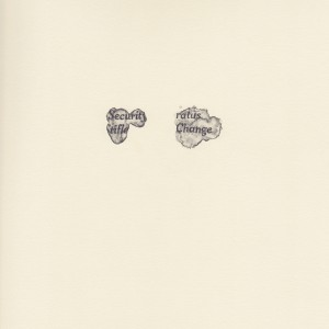 """change,"" coffee spill on the New York Times study #1 © Lindsey Muscato, graphite on paper, 10 x 8 inches, 2011"