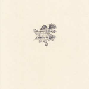 """""""to Smile,"""" coffee spill on The New York Times, study #11 © Lindsey Muscato, graphite on paper, 10 x 8 inches, 2011"""