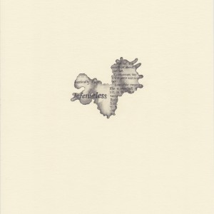 """""""snowball,"""" coffee spill on The New York Times, study #3 © Lindsey Muscato, graphite on paper, 10 x 8 inches, 2011"""