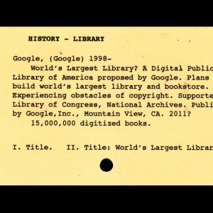 World's Largest Library, Ephemera, Paper, ©2011 by Irene Chan