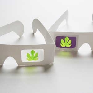 Fig-ure Eyeglasses, Object, Paper, © 2011 by Irene Chan