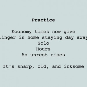 Practice, Chance Poem, Paper, © 2011 by Irene Chan