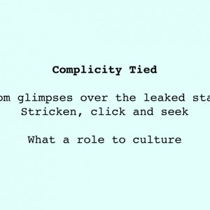 Complicity Tied, Chance Poem, Paper, © 2011 by Irene Chan