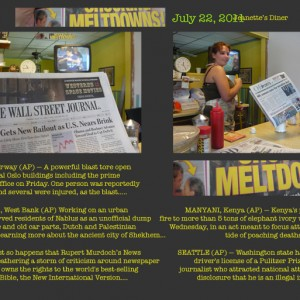 MELTDOWNS, Reading the News at Jeanette's Diner, July 22, 2011
