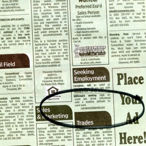 Place an ad in your paper