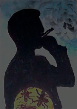 "Stephanie Tichenor. ""People who smoke have mosquito inna dem belly"" 08.14.11"