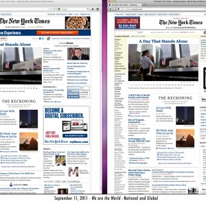 9.11.11 NY Times online - National / Global